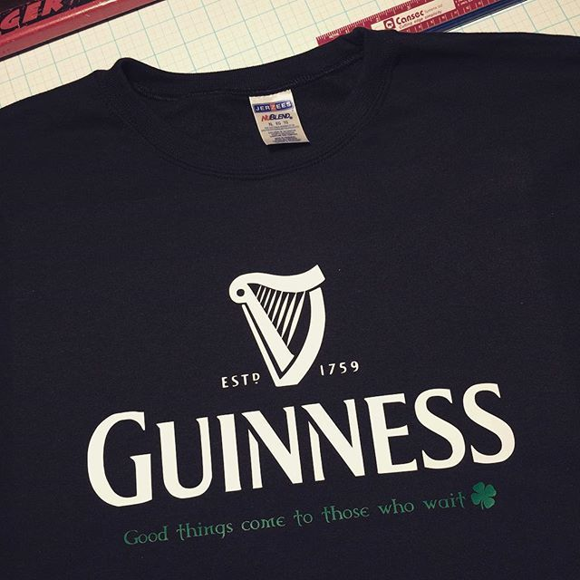 Guinness. Good things come to those who wait  #happystpatricksday #customsweatshirt #MadeByGramps at #chubtown