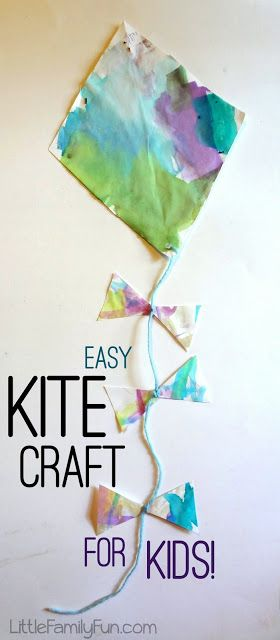 Cute and easy Kite Craft for kids! Great for spring and summer.