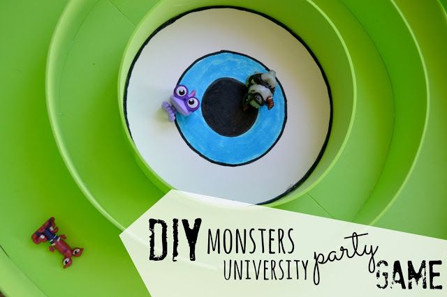 monster party craft | Monsters University Party Game, DIY Mike Wozowksi, DIY Monsters ...