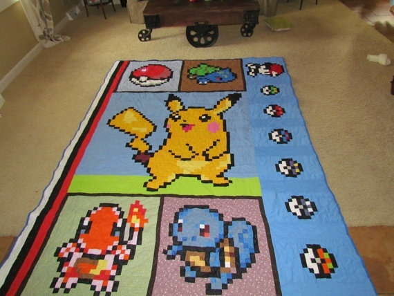 23 best Quilts for my Kids images on Pinterest | Sistema solar ... : video game quilt pattern - Adamdwight.com