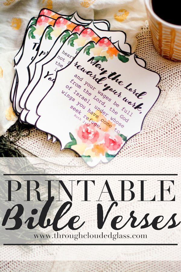 Printable Bible Verses For New Moms | Through Clouded Glass - Great to add to a Mother's Day gift!