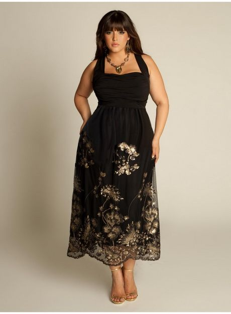 Plus size evening wear