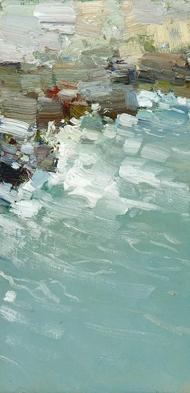 """BATO DUGARJAPOV - """"Cold Season"""" -  холст на картоне oil 40 x 20 cm, 2008"""