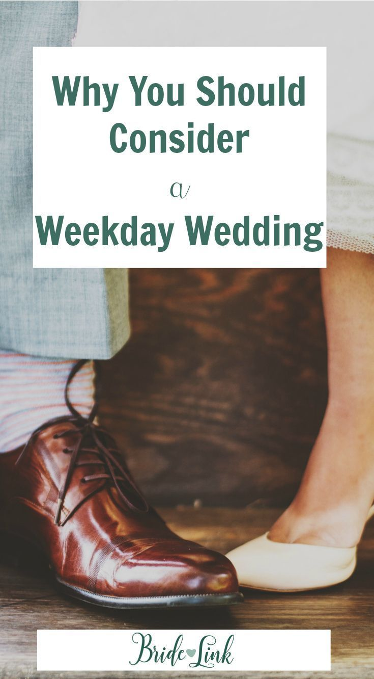 Why We Love Weekday Weddings