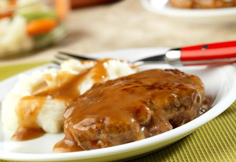 Ground beef comes alive in this simple skillet dish that uses prepared gravy to make it easy and really good!