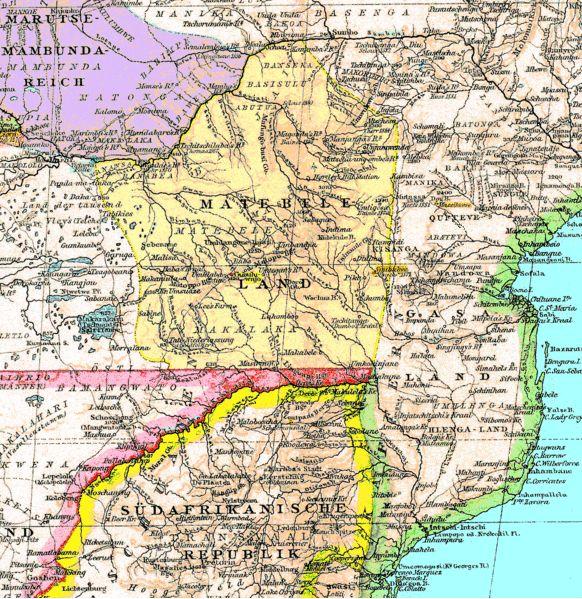 Matabeleland (Zimbabwe) in 1887