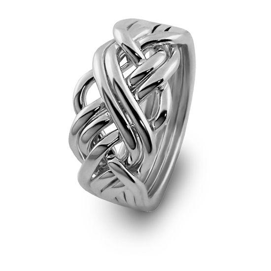 ladies 6 band silver puzzle ring turkish weddingpuzzle
