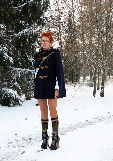 The wardrobe of Ms. B: Winter was here
