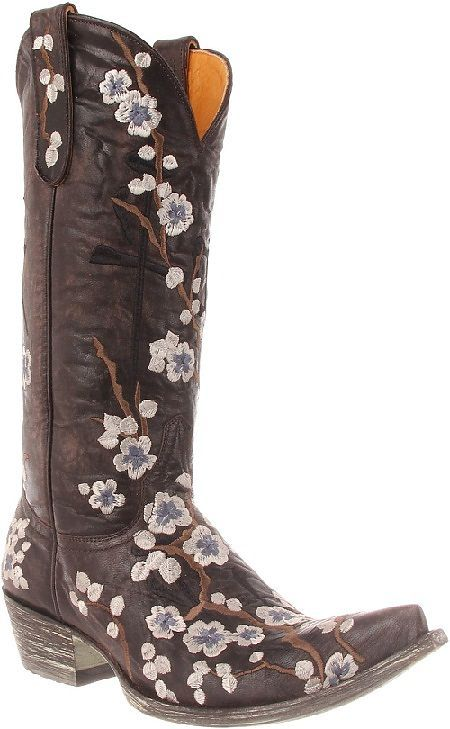 Womens Old Gringo Boots Cherry Blossom Peace...old gringo boots are my signature...i wear them all year round but especially love my boots this time of year.
