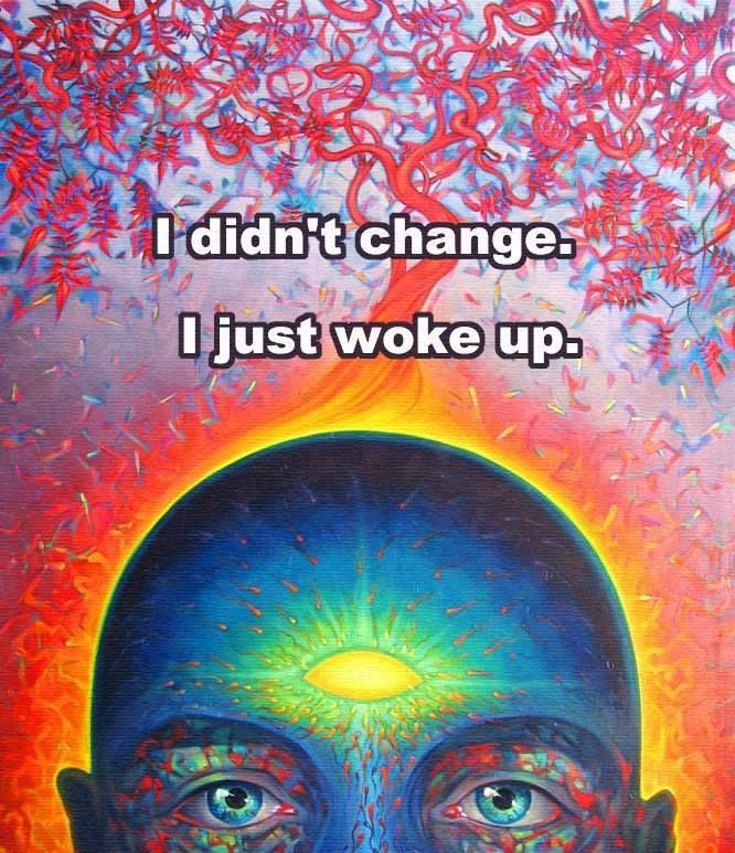 i didn't change woke up