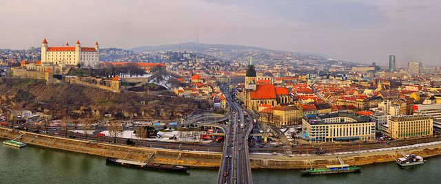 BRATISLAVA, SLOVAKIA is the only place where you can stay in 5* hotels and eat fancy food and it won't splurge your budget. If you are heading to Vienna and your budget is pretty tight, you can stay cheap in Bratislava and do day trips to Vienna which is only an hour away. Bratislava, Slovakia is famous for interesting national food, great beer and delicious wine!