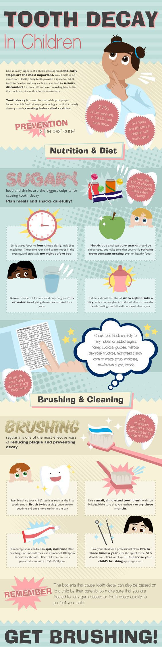 #Tooth Decay In #Children #Infographic