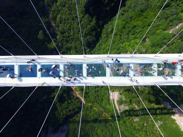 OK. I feel sick now. Bye. | China Opened The World's Highest Glass Bridge And I…