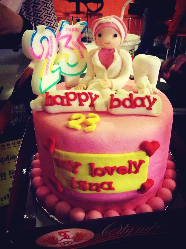 My lovely pink birthday cake from my special one...