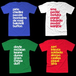 soccer obsession + cool typography= didi tshirts for the Euro 2012 soccer championships this summer  didi!