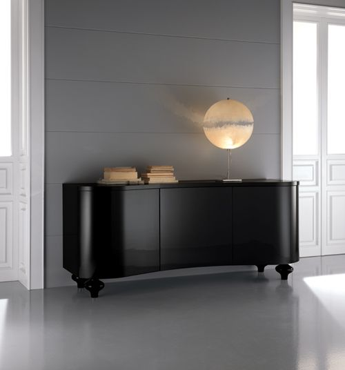 Sophistication For Any Setting The Diva Collection Black Buffet Sideboard Is Shown Here In A Lacquered Surround Top And Legs