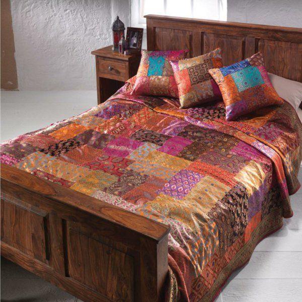 les 25 meilleures id es de la cat gorie couvre lit patchwork sur pinterest courtepointes. Black Bedroom Furniture Sets. Home Design Ideas
