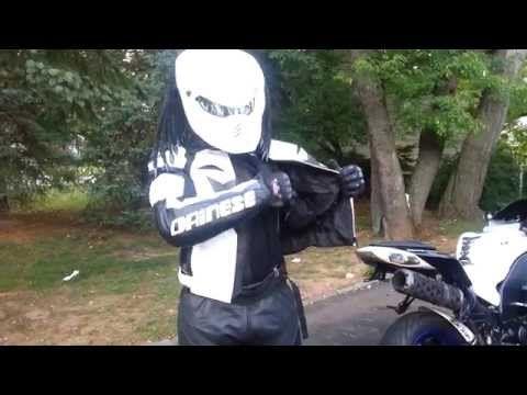Look at this Helmets video we just added at http://motorcycles.classiccruiser.com/helmets/predator-motorcycle-helmet-w-gen-2-kawasaki-ninja-zx10r-06-w-brand-new-dainese-jacket-sp-r/