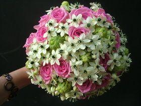 rózsa. ornithogalum menyasszonyi csokor - esküvő virág