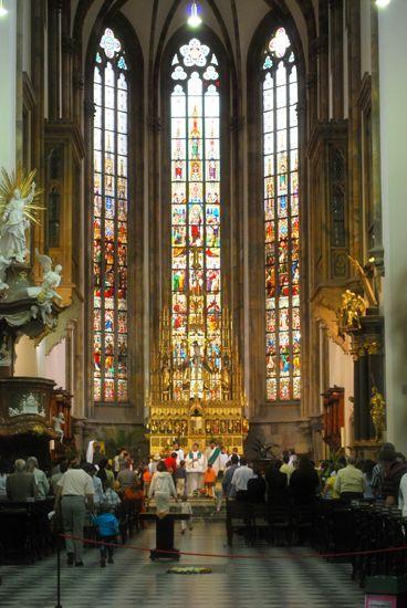 Czech Republic, Brno, picture, city, architecture, beautiful, church, Sunday