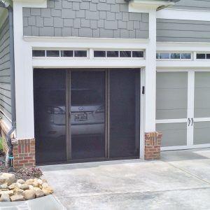 single car garage screen door