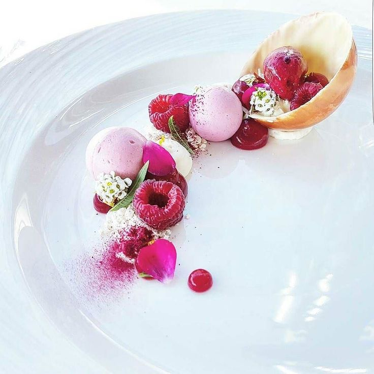 Combination of raspberry white chocolate citrus and verbena