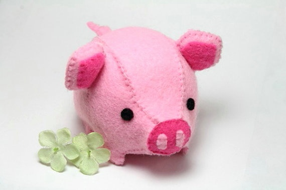 PDF Pattern - Felt Pig Plush | Plush, Felt and Patterns