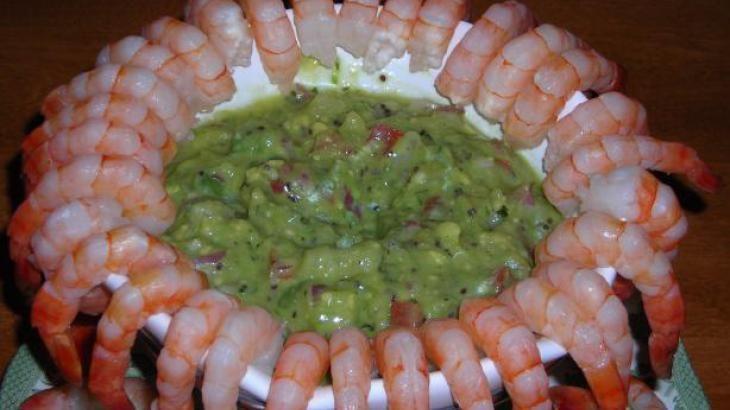 Shrimp Cocktail With Kiwi Daiquiri Guacamole Recipe