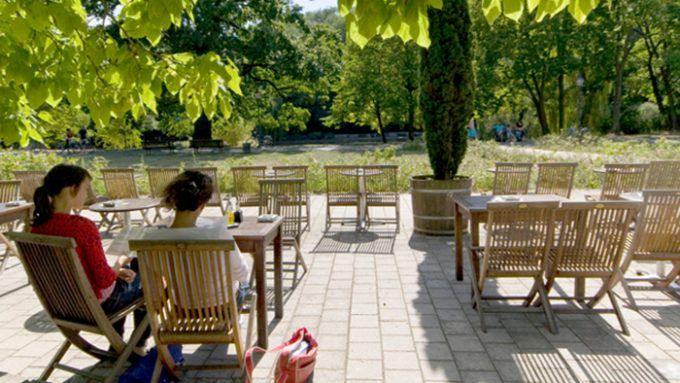 Schoenbrunn Mitten im Volkspark Friedrichshain nahe des Schwanenteichs liegt das Restaurant Schoenbrunn, das mit riesiger Terrasse zum ausgiebigen Sonnenbaden einlädt. Genügend Platz für eine große Runde gibt es auch und davor oder danach könnt ihr eine gemütlichen Runde durch den Park spazieren.
