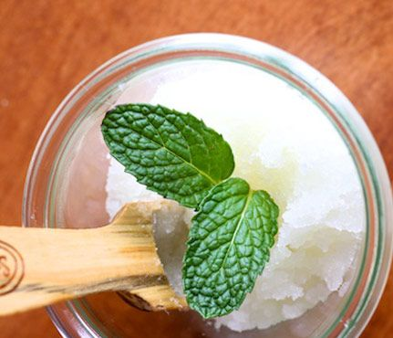 diy bath scrubs: Peppermint Scrub: 1/4 cup grapeseed oil, 2tbsp spearmint essential