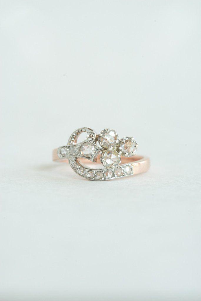 Antique French Rosecut Diamond Ring | QUITOKEETO