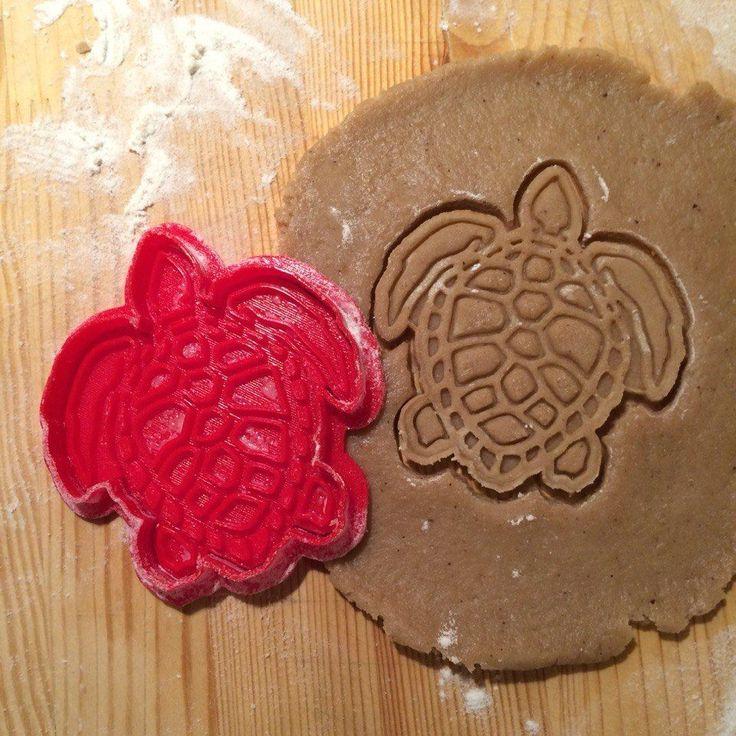 Sea Turtle cookie cutter - 1pcs cookie cutter - Plastic 3d printed (PLA) in Дом и сад, Кухня, столовая и бар, Выпечка и изготовление конфет | eBay