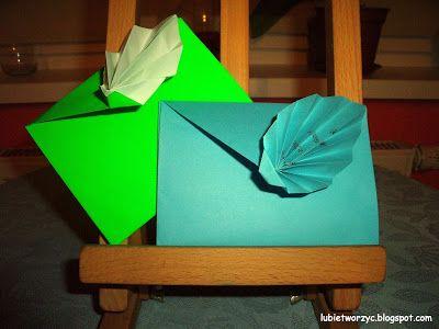 Ozdobna koperta origami  #lubietworzyc #DIY #handmade #howto  #instruction #instrukcja #jakzrobic #krokpokroku #koperta #kopertaorigami #origami #envelope #origamienvelope