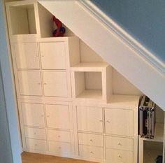 utiliser les tagres IKEA de manire originale! 30 ides pour vous  inspirer. Ikea KallaxIkea HacksUnder Stairs Storage ...
