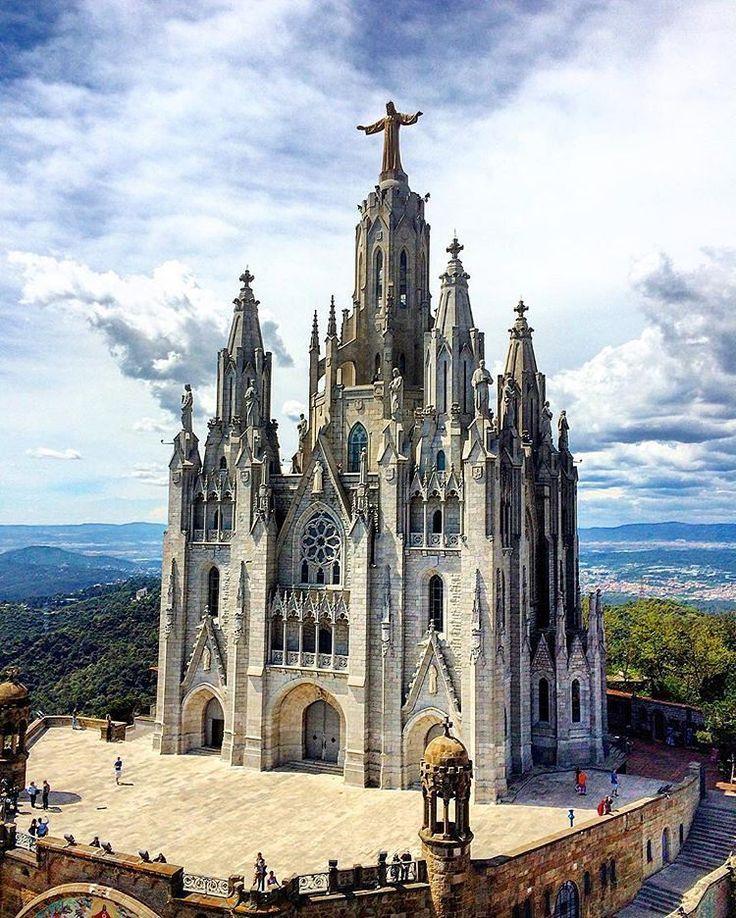 The Temple Expiatori del Sagrat Cor is a Roman Catholic church and minor basilica located on the summit of Mount Tibidabo in Barcelona, Catalonia, Spain.