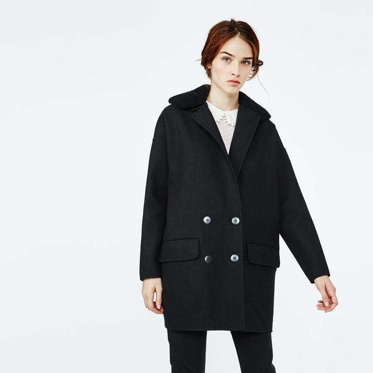 Maje #FW15 GARNISON coat #MajeVsCold
