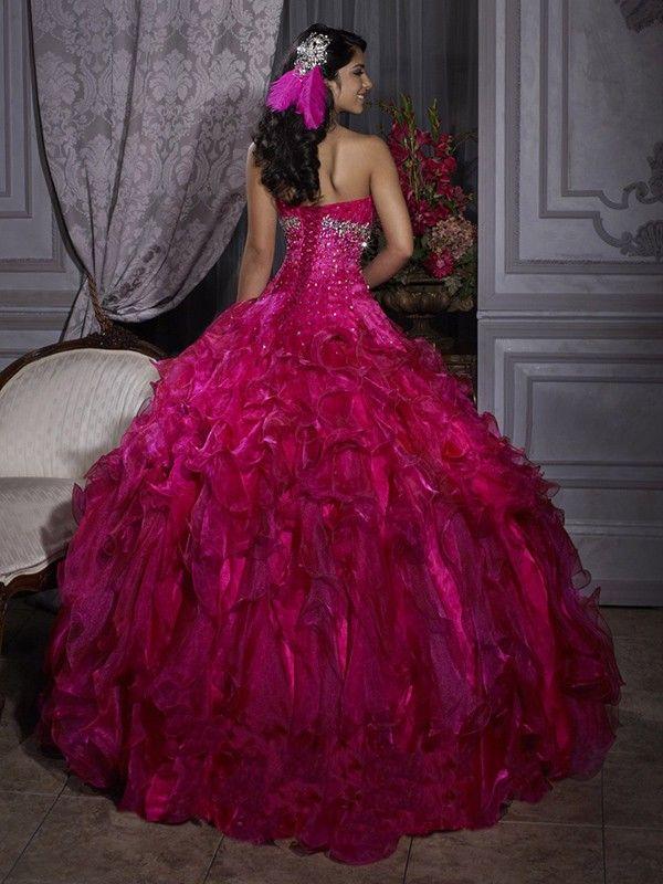 Liefje floor length organza jurk 15- jarige