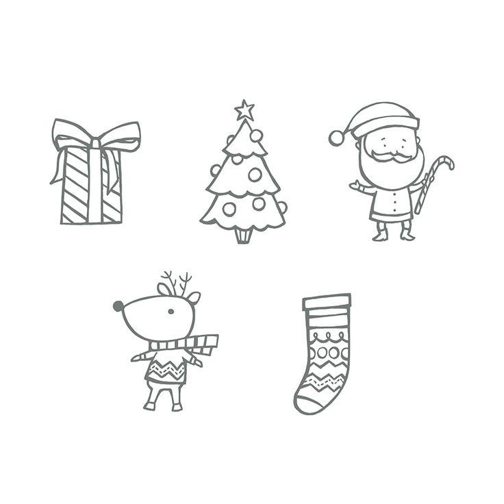 My Digital Studio | Color Me Christmas Stamp Brush Set
