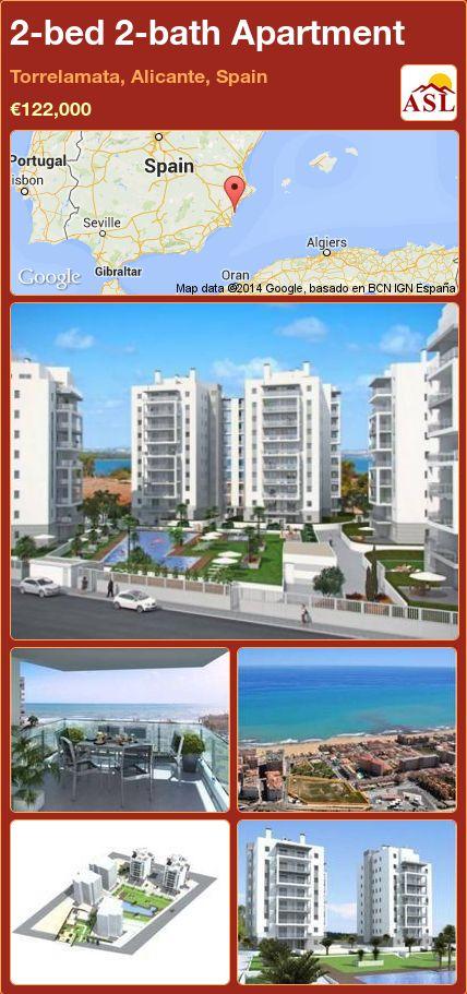 2-bed 2-bath Apartment in Torrelamata, Alicante, Spain ►€122,000 #PropertyForSaleInSpain