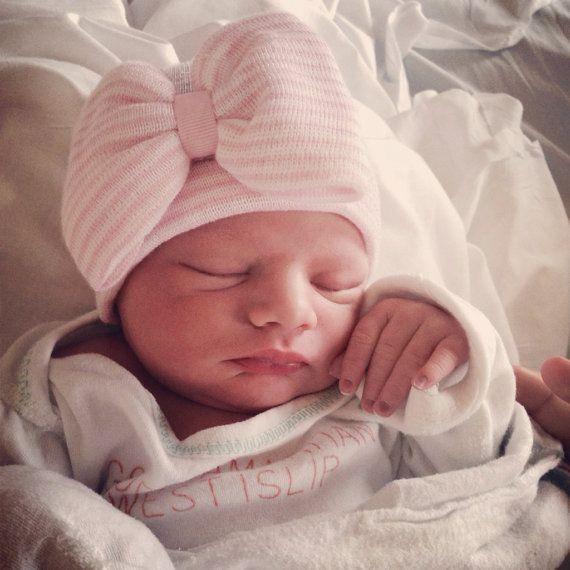 BABY GIRL HAT newborn hospital hat newborn by InfanteenieBeenie, $22.99