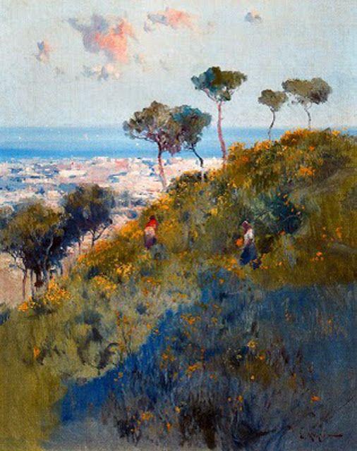Eliseu Meifrén i Roig (Barcelona., 1857 - 1940) Vista desde el Tibidabo