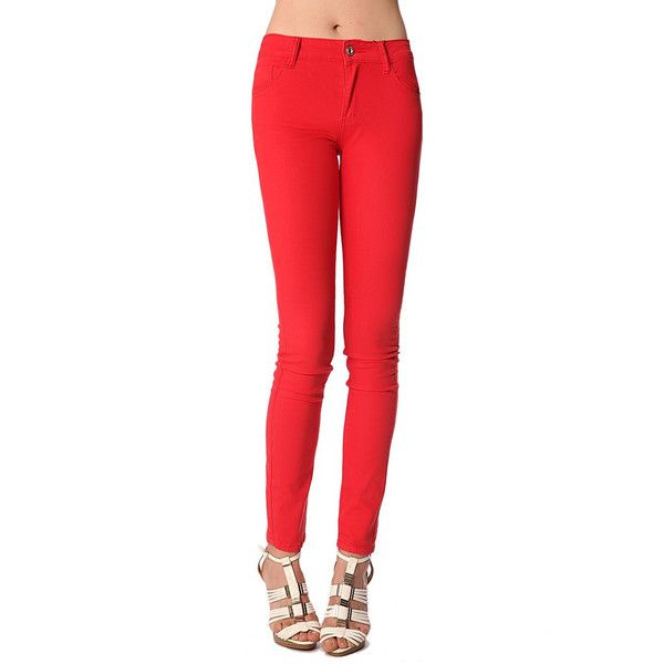 Red skinny jeans - All My DIBS - 1