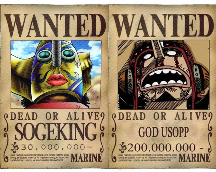 Usopp's bounty then and now