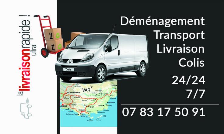 Creation D Une Carte De Visite Pour Un Transporteur Livreur Demenageur A La Garde 83130 Carte De Visite Creation Carte De Visite Carte