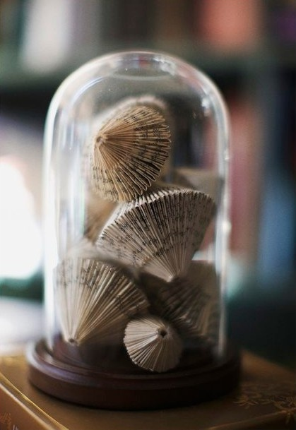 Book art ornaments under glass dome, Go To www.likegossip.com to get more Gossip News!