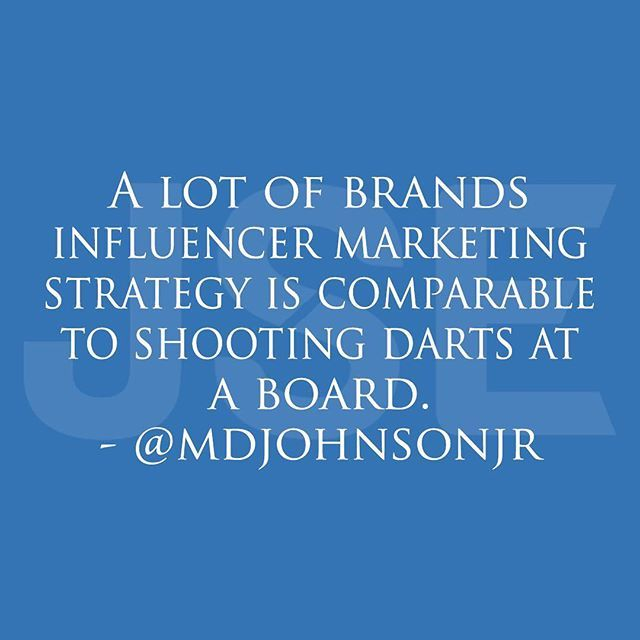 """""""Companies who do not have experienced directors (Marketing and advertising) and even some that do, have no clue on how to increase sales with influencer marketing.  Many brands are just thinking that if They play the game, hopefully with time they will hit the bullseye. Their strategy is more of a game of chance versus a proven formula that works. Watch who you hire and designs your strategy. #influencer #influencers #influencermarketing #influencermarketing101 #strategy #blogger #blog…"""