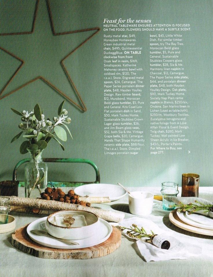 Paper Series Plates featured in Australian House & Garden, 2012