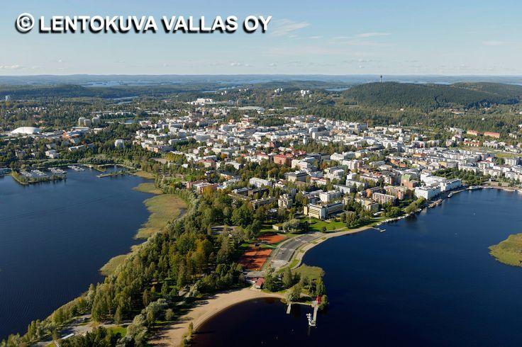 Kuopion kaupunkia kesällä Ilmakuva: Lentokuva Vallas Oy
