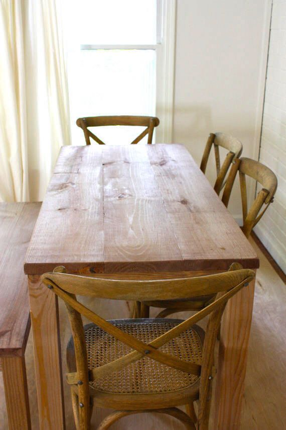 Handmade Solid Wood Table Reclaimed Wood Dining Table Reclaimed Wood Table Parsons Table Parsons Table