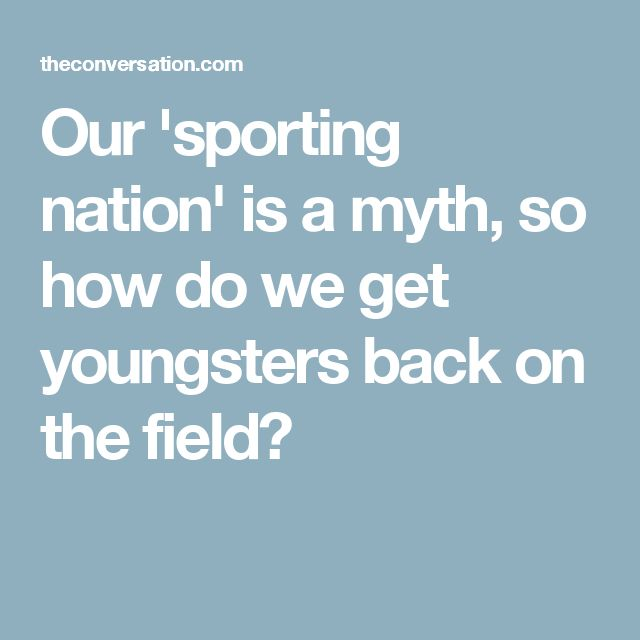 Our 'sporting nation' is a myth, so how do we get youngsters back on the field?